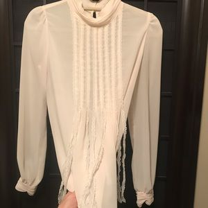 Off White Blouse With Delicate Details